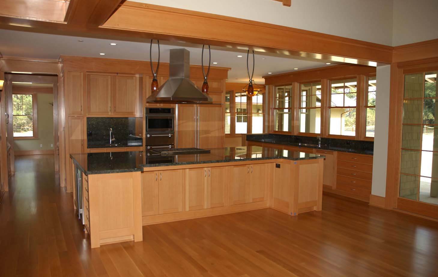 brown kitchen  Finish Carpentry and Woodworking by Ron Clegg